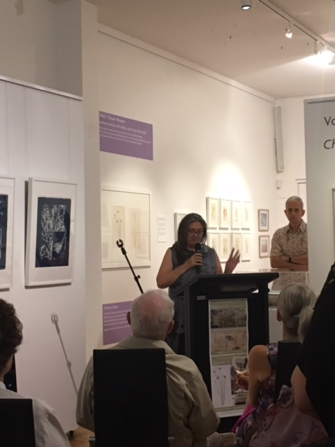 Cooroora Institute director, Dr Tamsin Kerr speaking at Noosa Regional Gallery