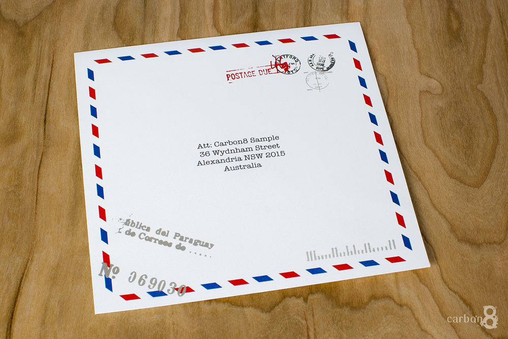 Printed envelope in colour
