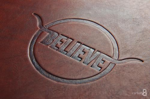 Carbon8 debossing debossed business cards debossed logo on leather reheart Gallery
