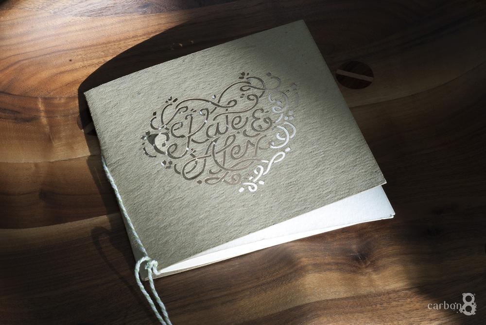 Laser cutting wedding invitation