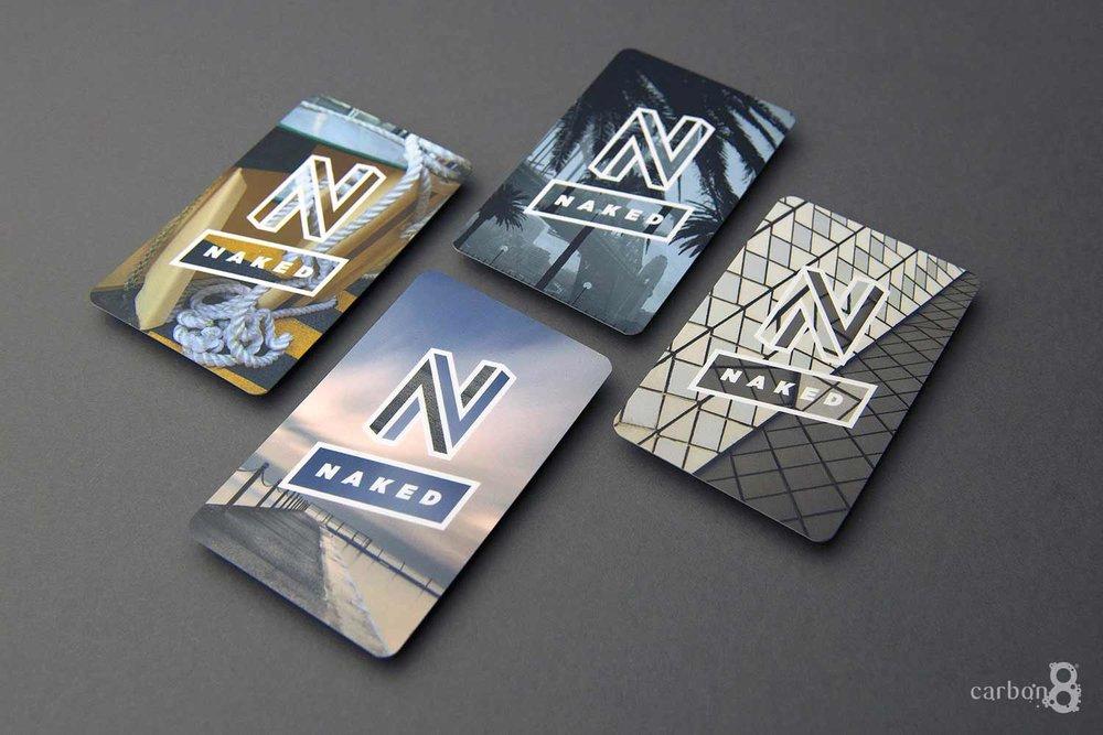 spot UV business cards Naked