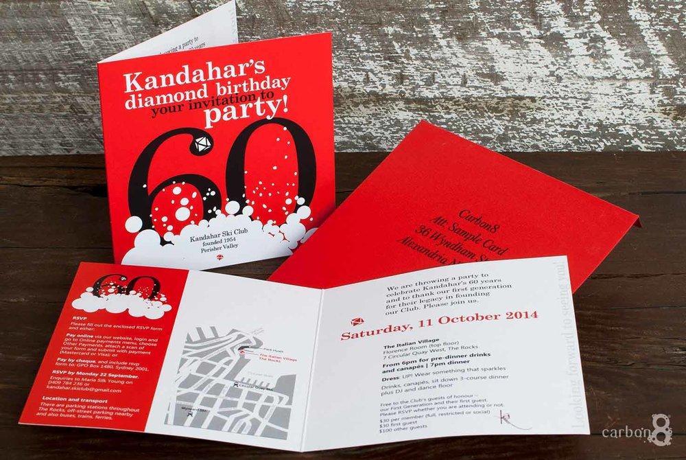 Invitation celloglaze Kandahar Ski Club