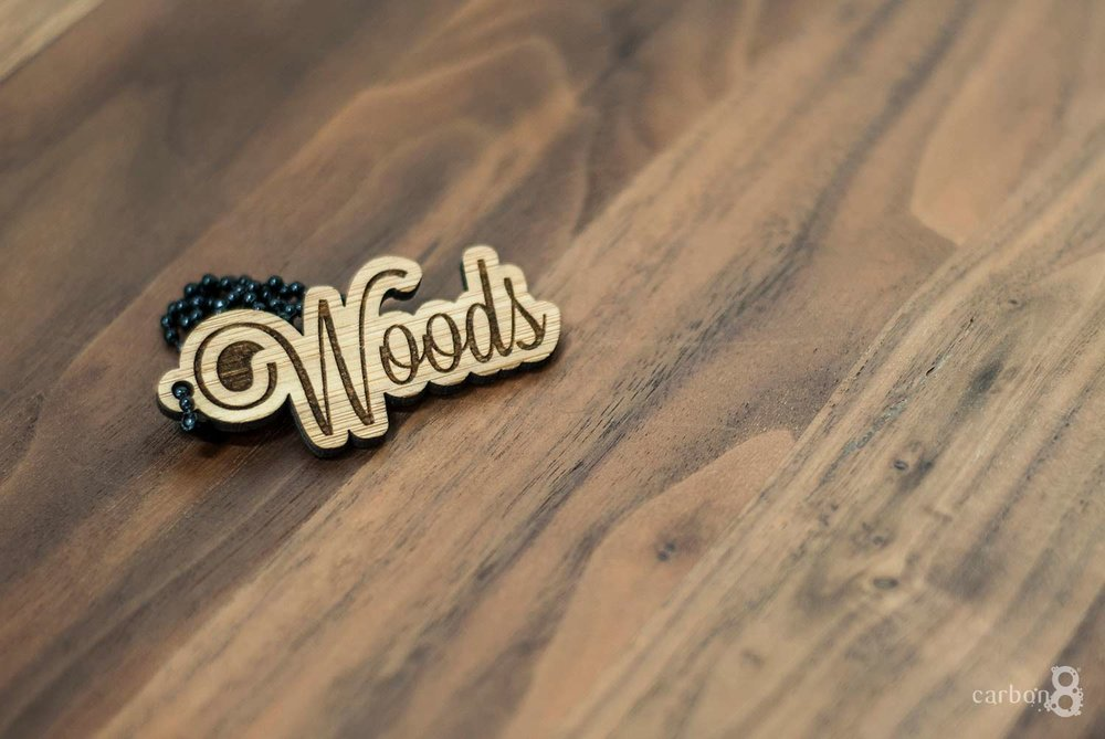 Laser engraved pendent from wood