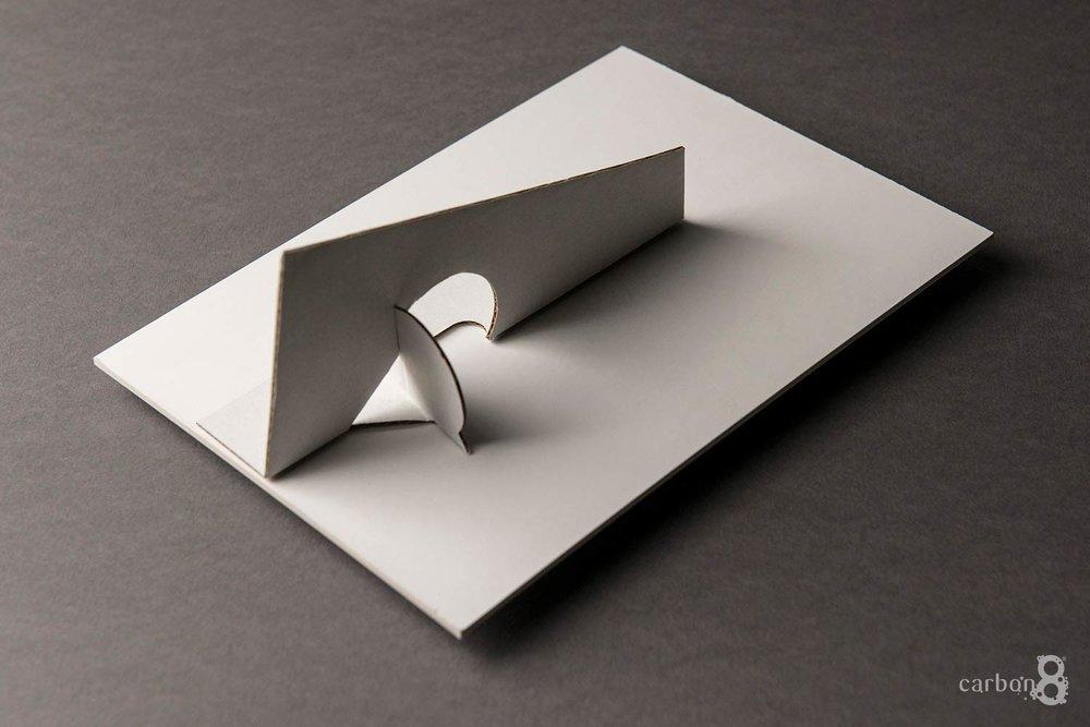 Lamericano foiled strut card back