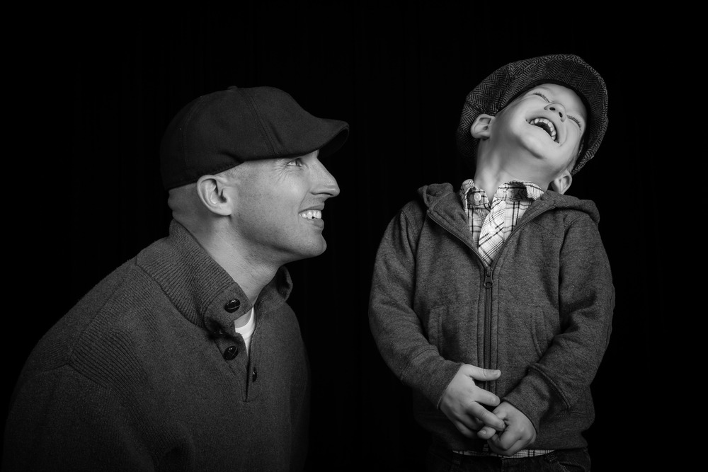 A fun studio session with Gideon (son #1) just before Denver (son #2) was born