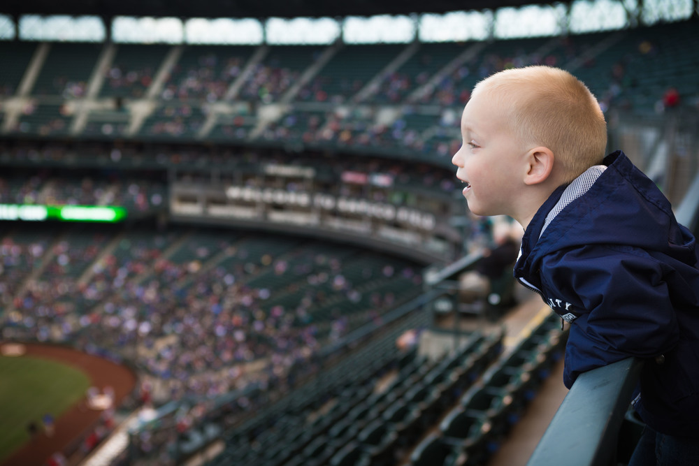 The AV was set at 3.5 for this picture at Safeco Field.
