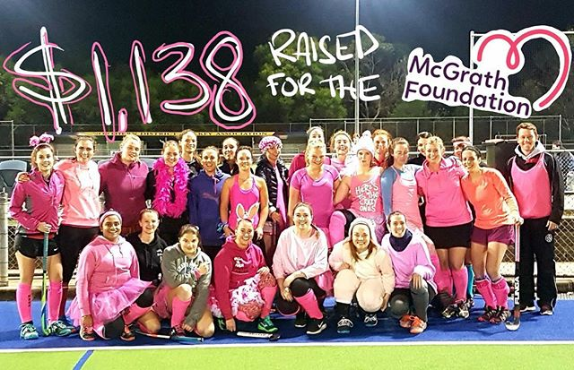 WOW $1138 raised for the @mcgrathfoundation thankyou to everyone involved 💕🎀🌸 #muhc #pinkweek #macunihockeyclub #breastcancer #mcgrathfoundation