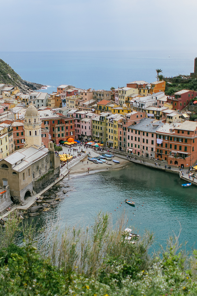 Vernazza village from the hiking trail to Monterosso