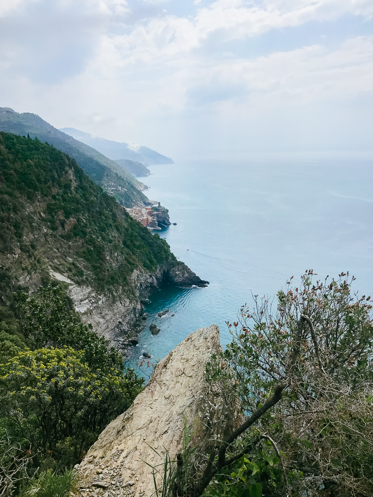 Spotting Vernazza from the hiking trail
