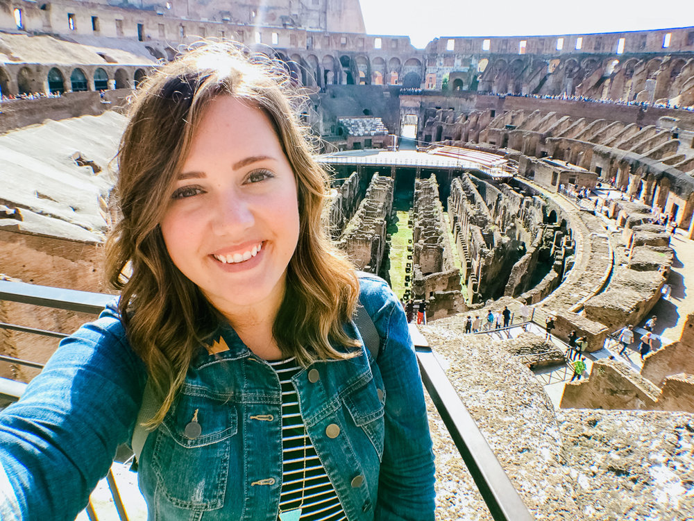 Taking it all in at the Colosseum in Rome
