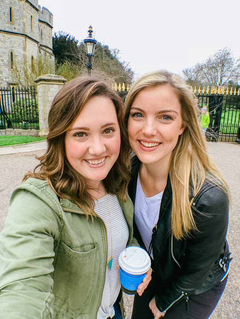 Exploring Windsor with my sweet friend Lizzie