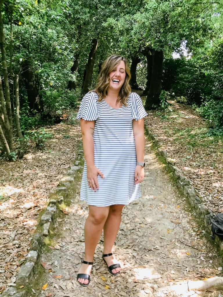 Embracing my awkwardness at Boboli Garden in Florence