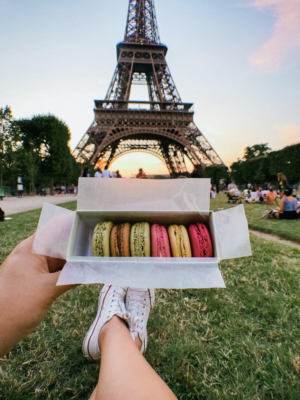 paris france eiffel tower macaron