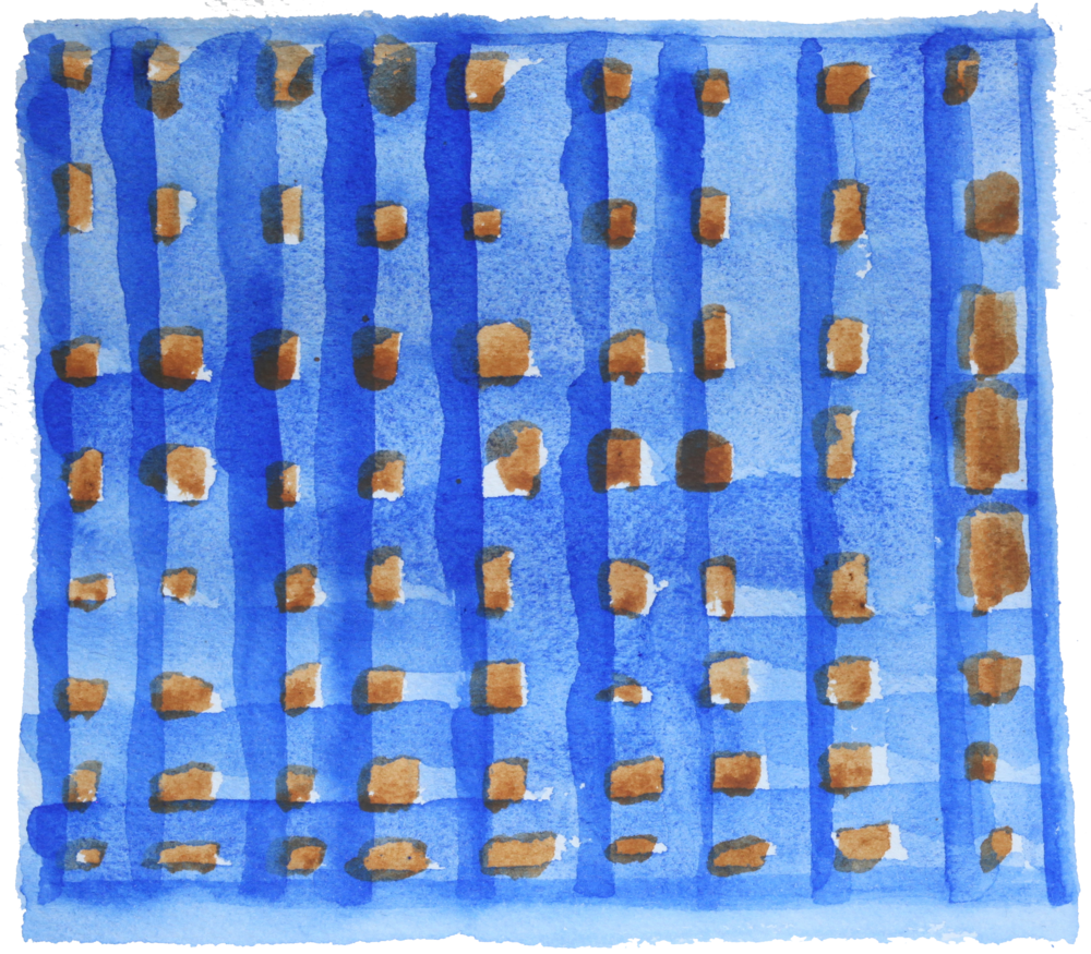 "Untitled #31, 2015, Watercolor,  6.25"" x 7"""