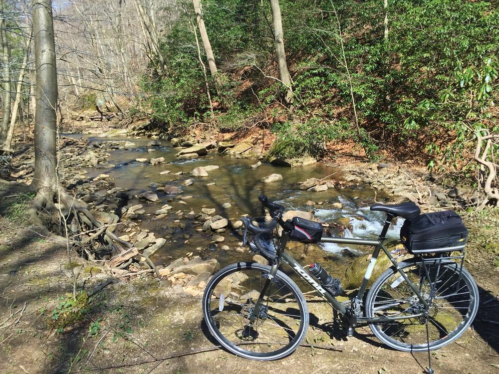 Heyduude on Roaring Run Creek
