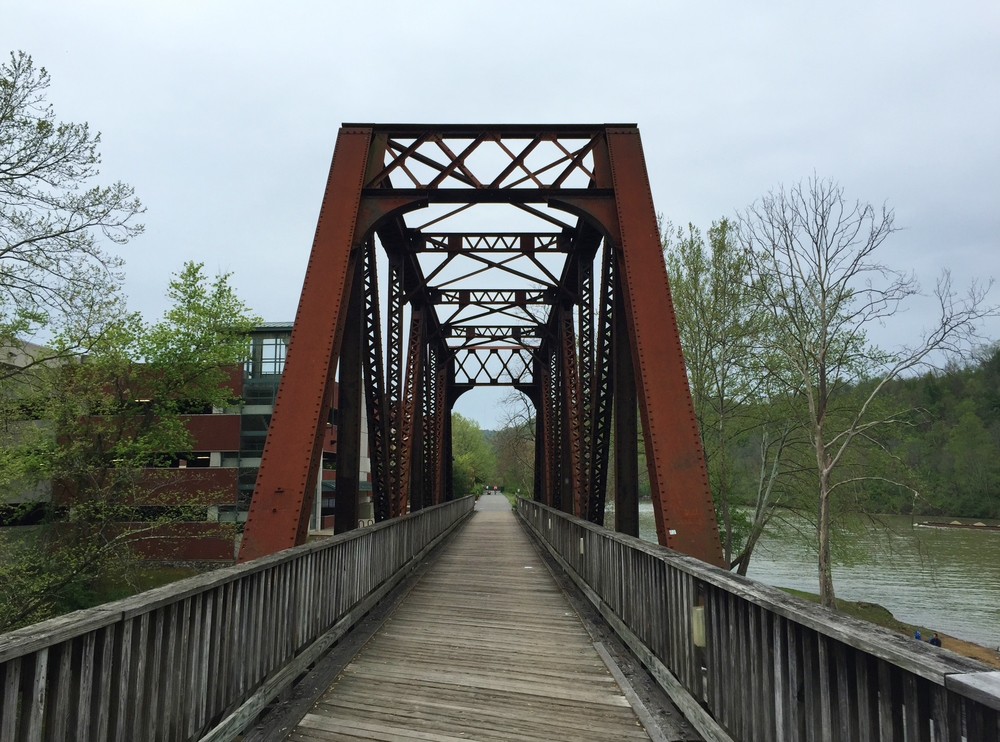 Deckers Creek Bridge at Hazel Ruby McQuain Riverfront Park