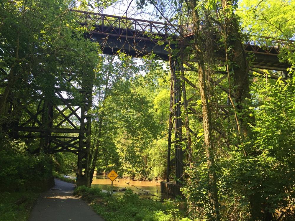 Georgetown Branch Trail bridge over Rock Creek
