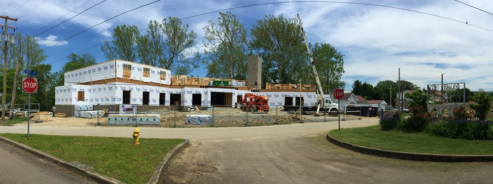 Cobblestone Hotel in Connellsville really starting to take shape