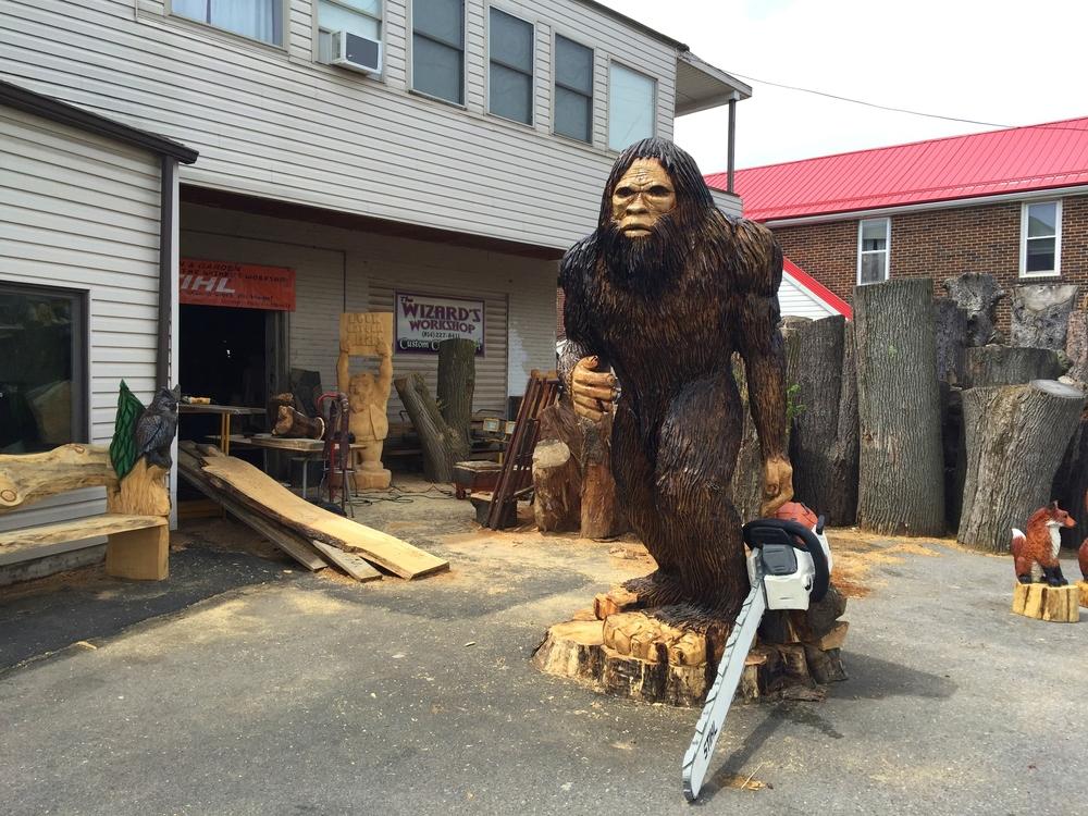 bigfoot at wizard's workshop in punxsutawney