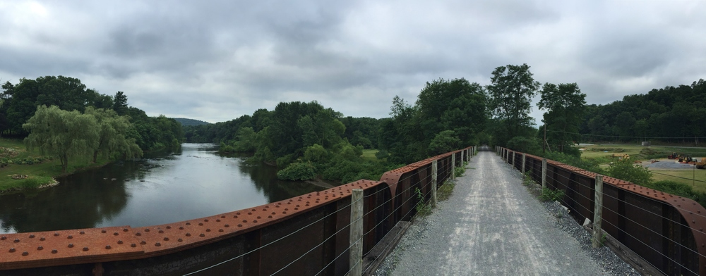 Railroad bridge over West Branch Susquehanna River.