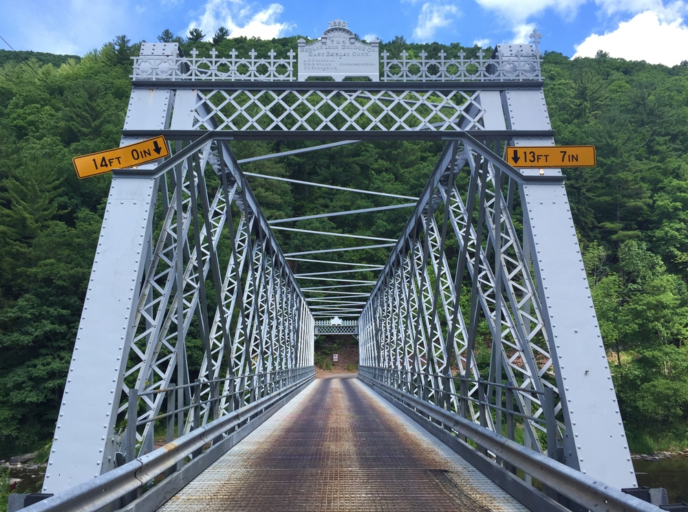 Cool old bridge, the sign at the top says 1880.