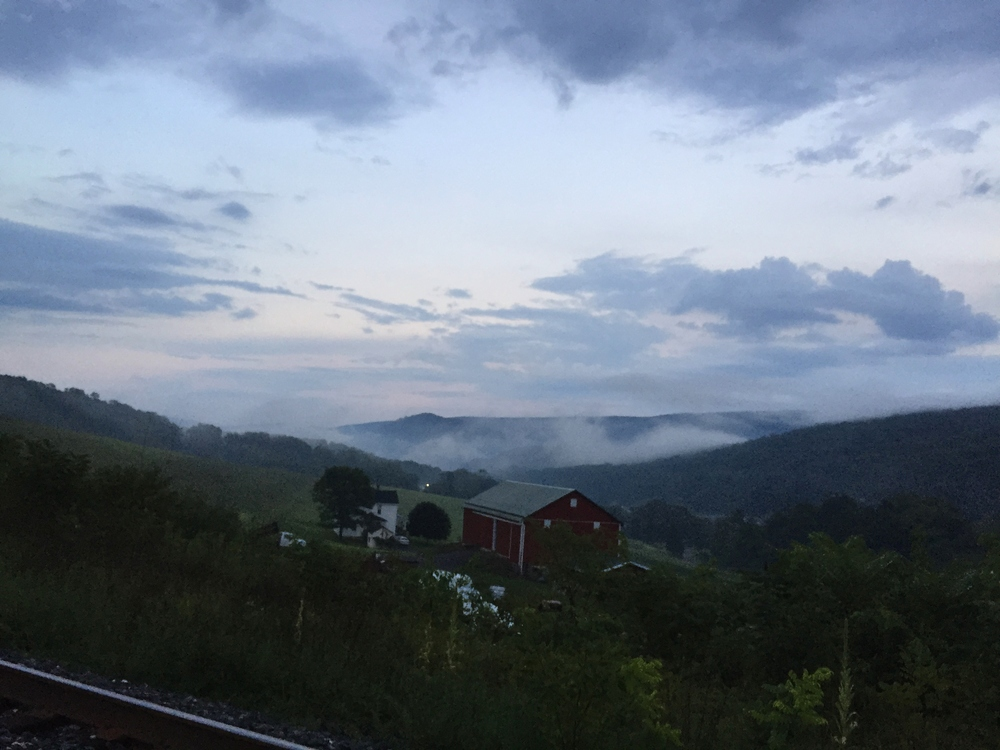 Fog in the valleys after a little rain.