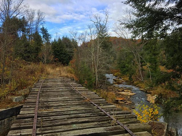 A favorite spot on the unfinished segment of the Sligo Spur of the #RedbankValleyTrail @armcotourism