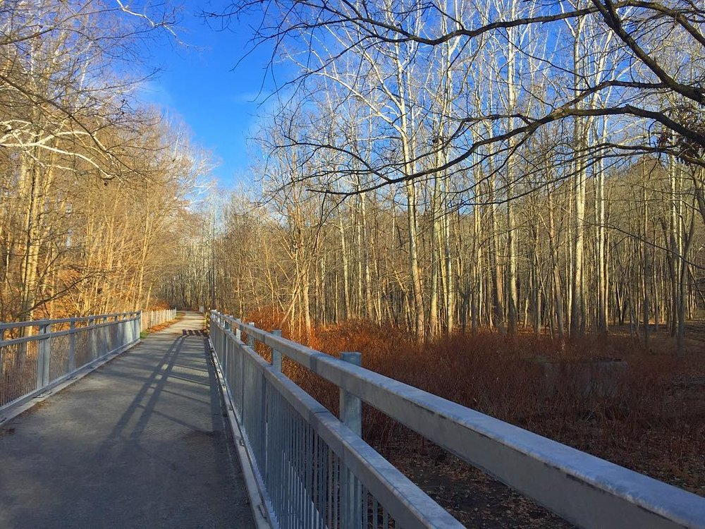 First ride on the brand new Turtle Creek extension of the #WestmorelandHeritageTrail 🐢🚴‍♂️ #cranksgiving