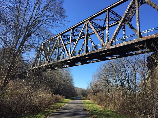 Passing under the #MontourTrail, on the #PanhandleTrail #optoutside