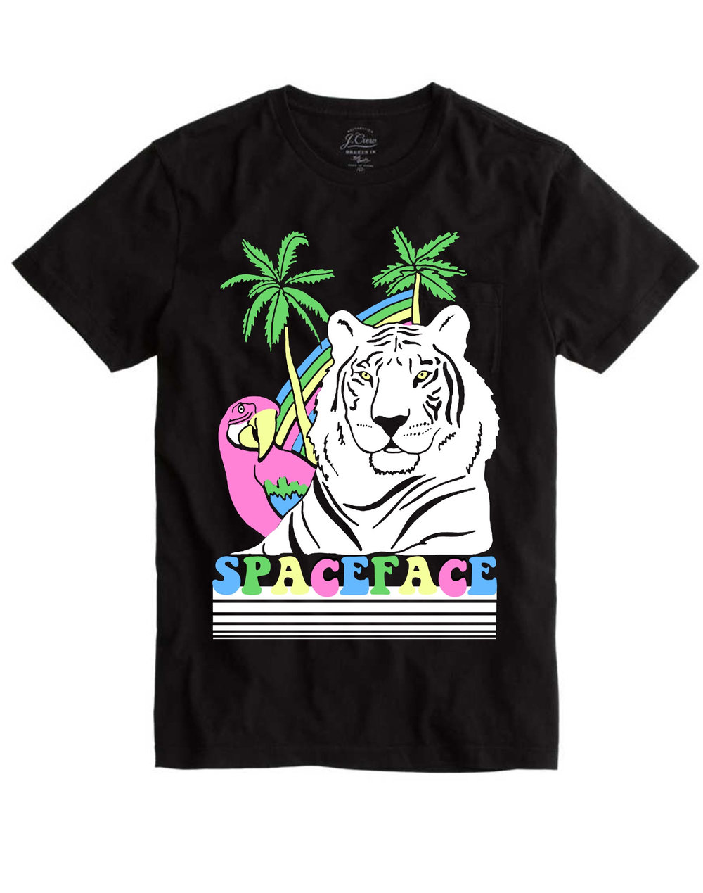 Shirt design examples - Spaceface T Shirt Design