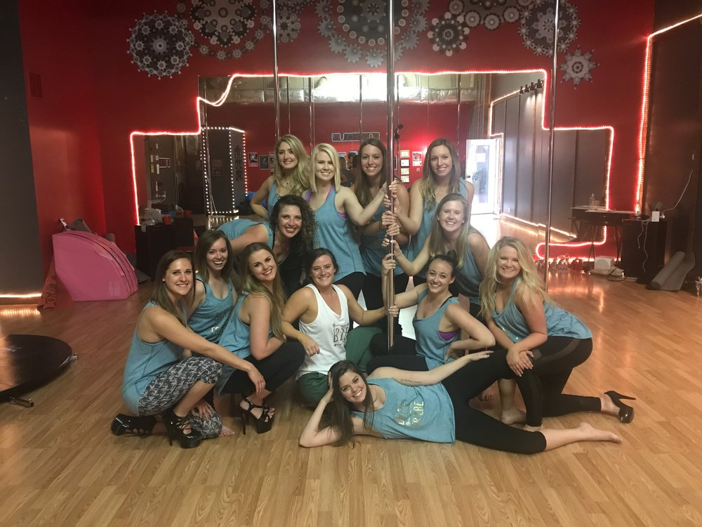 bachelorette pole parties, burlesque parties, dance parties in Asheville, NC