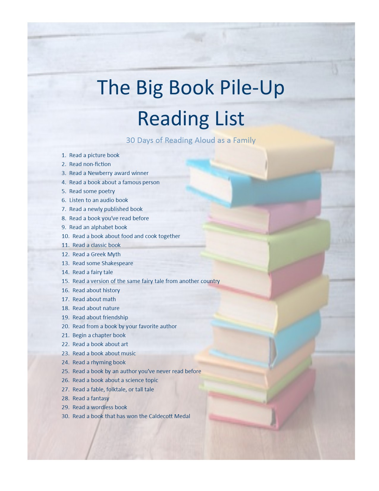 big book pile up printable 2