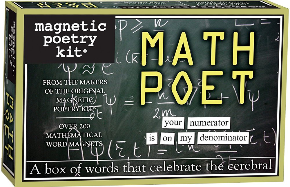 Math Poet: Who says you can't play with math and words at the same time?  This little box of magnets just may change how you see math.