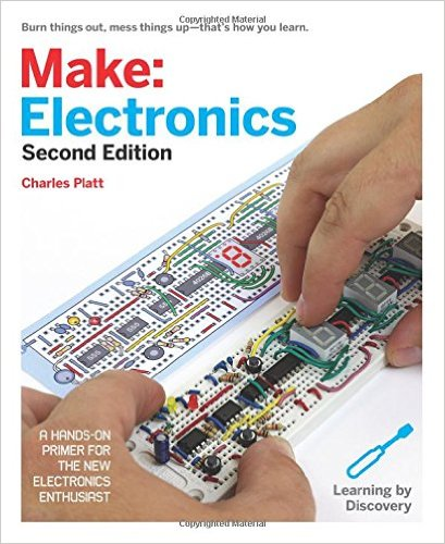 Make: Electronics .  The Make series of books offers in-depth user-friendly project instructions for a variety of topics. This one about electronics pairs well with a beginning soldering kit.