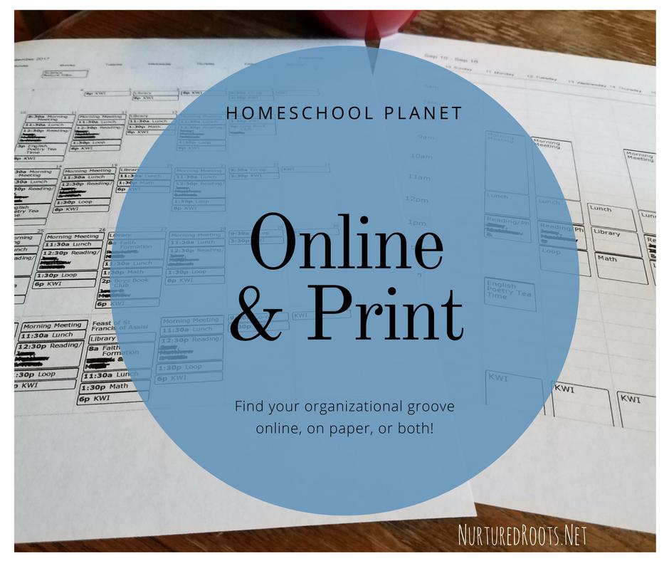 Online Homeschool Planner Print