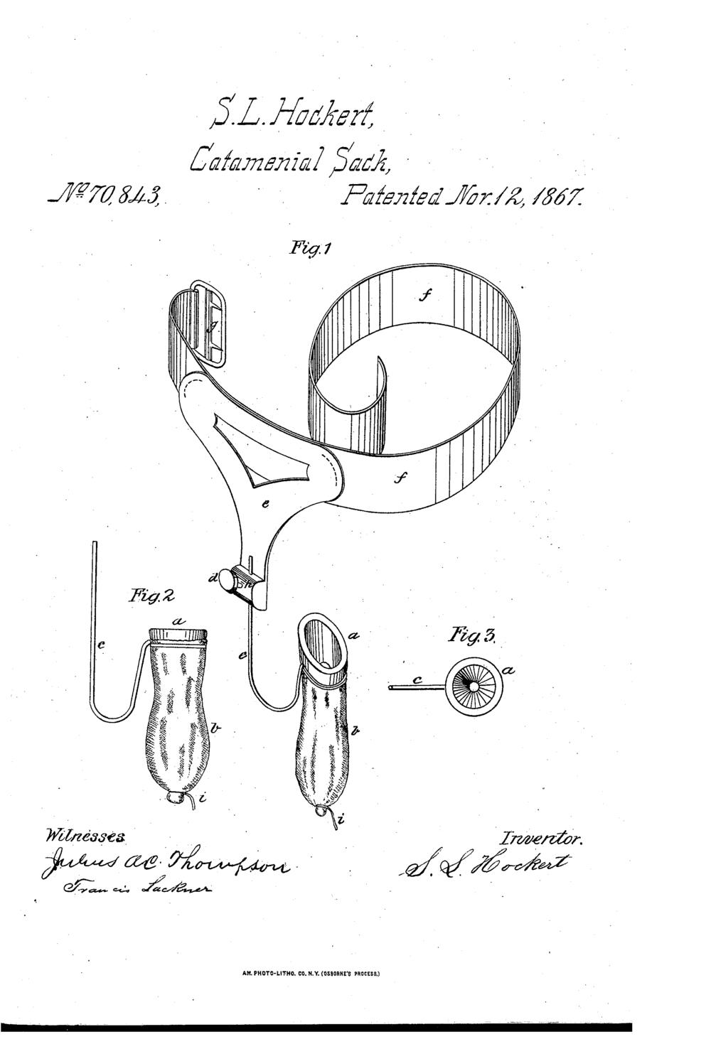 Photos Courtesy of  Catamenial Patents