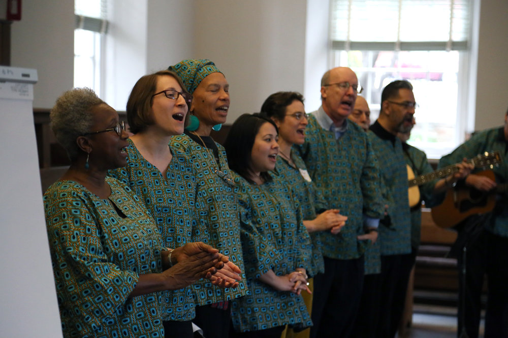 DC Labor Chorus sings at the SURJ DC launch event. Photo by Eric Krupke