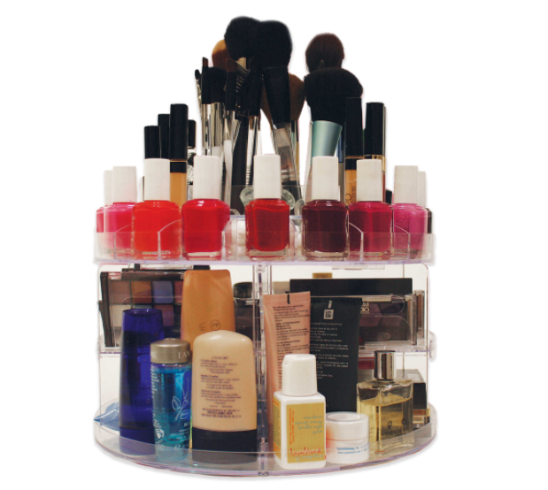 Glam Caddy Rotating Cosmetic Organizer, $29.99,  www.bedbathandbeyond.com
