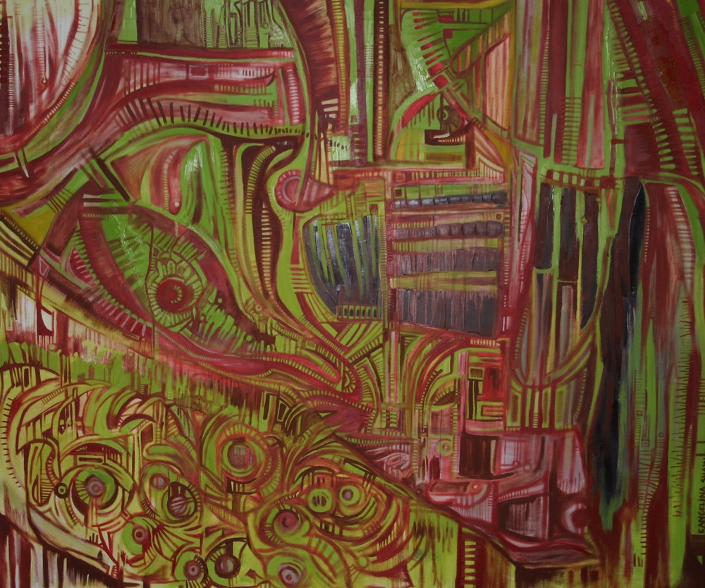 View of Clarity 5'x6' Oil on Canvas