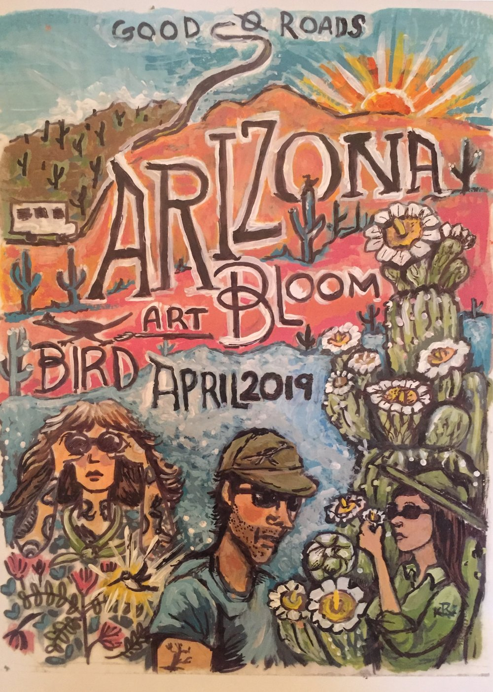 "stay tuned! - Arizona Bird Art Bloom - April 2019with @deerjerk and @folkmasses—""Southeastern Arizona, where isolated mountain ranges rear up like islands in a sea of desert grassland, lures you with more than 400 species, including dozens that spill across the border from Mexico."" @audubonsociety"