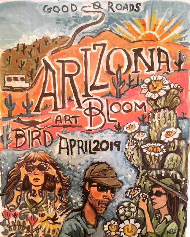 "Stay tuned!  Arizona Bird Art Bloom - April 2019 with @deerjerk and @folkmasses — ""Southeastern Arizona, where isolated mountain ranges rear up like islands in a sea of desert grassland, lures you with more than 400 species, including dozens that spill across the border from Mexico."" @audubonsociety  #BirdArtBloom #birdwatching #birder #birdwatchers #bird_lovers #birds_bees_flowers_n_trees #birding #artist #naturalist #nature #arizona #bloom #flowers #migration #birdmigration #wildlife #wildlifephotography #birdphotography #roadtrip #grouptravel #smallgrouptravel"