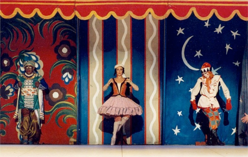 the Moor, the Ballerina, and the tragic Petrushka.