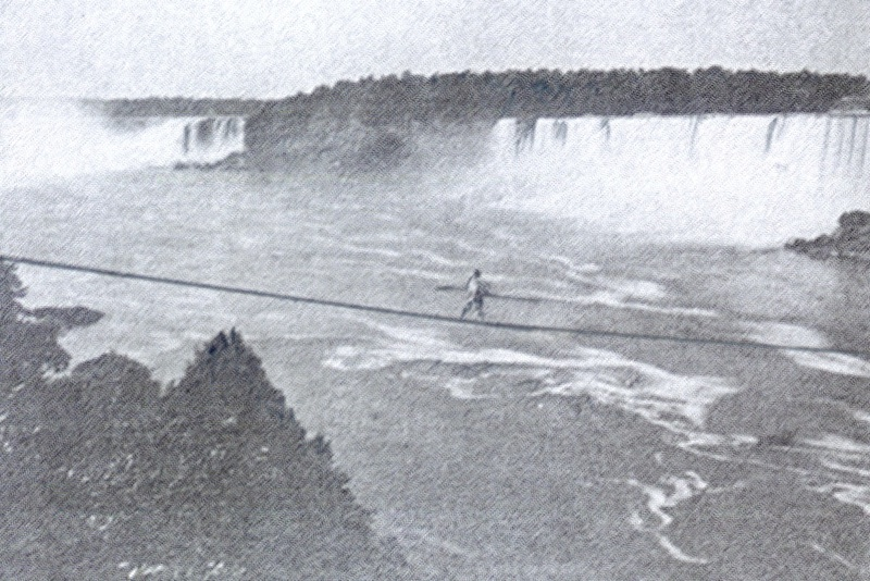 the Great Blondin over Niagara Falls