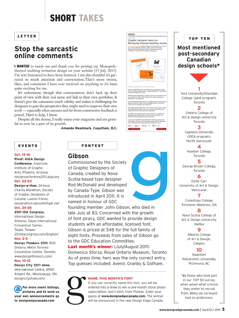 Design Edge Magazine Sept/Oct issue