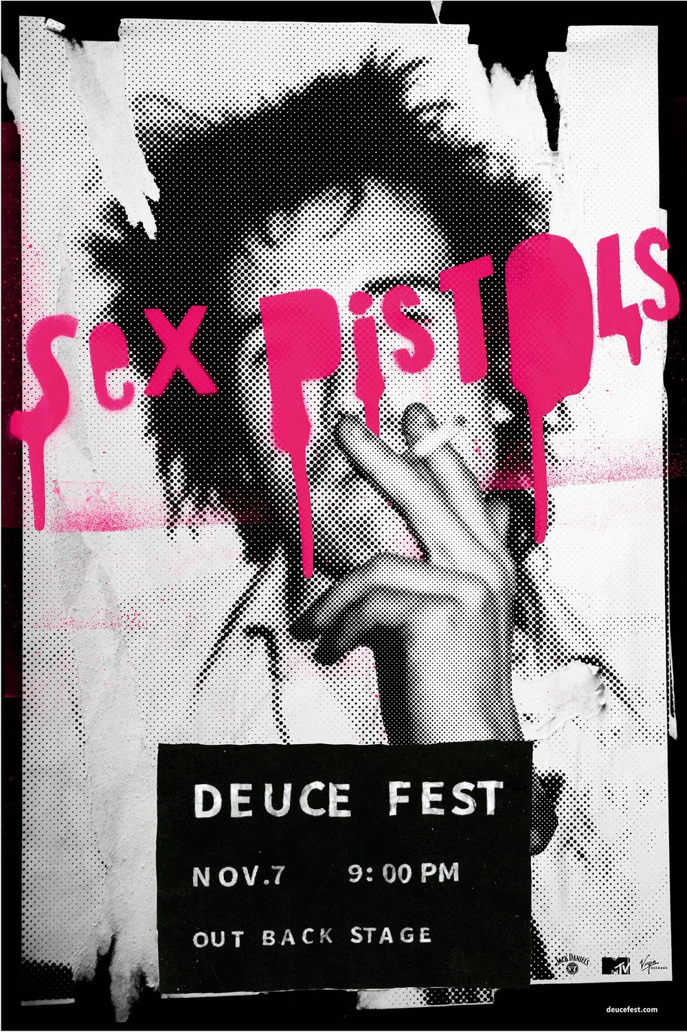 Sex Pistols, Deuce Fest - illustrated poster by Rae Maher