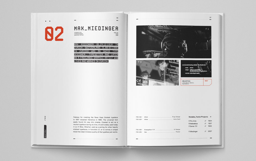 Newtype,  by  Isaac Mak , is collection of designers whose typefaces have been used in sci-fi movies.