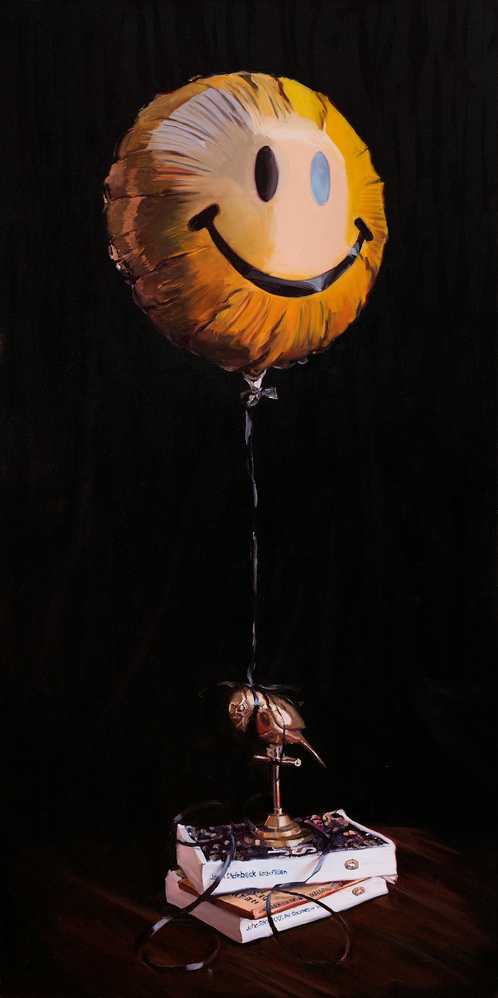 Can't Get High Enough, 50x100cm, oil on canvas.