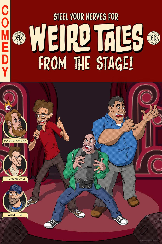 Comedians Poster Series: Joe Rogan, Ari Shaffir, Joey Diaz, Duncan Trussel, Tony Hinchcliffe, Brian Redban