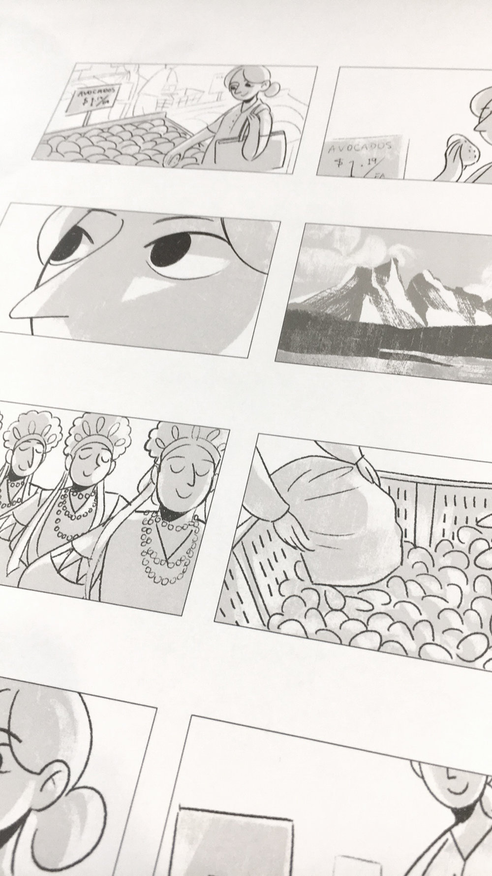 Storyboards by Alice Zeng for recent campaign