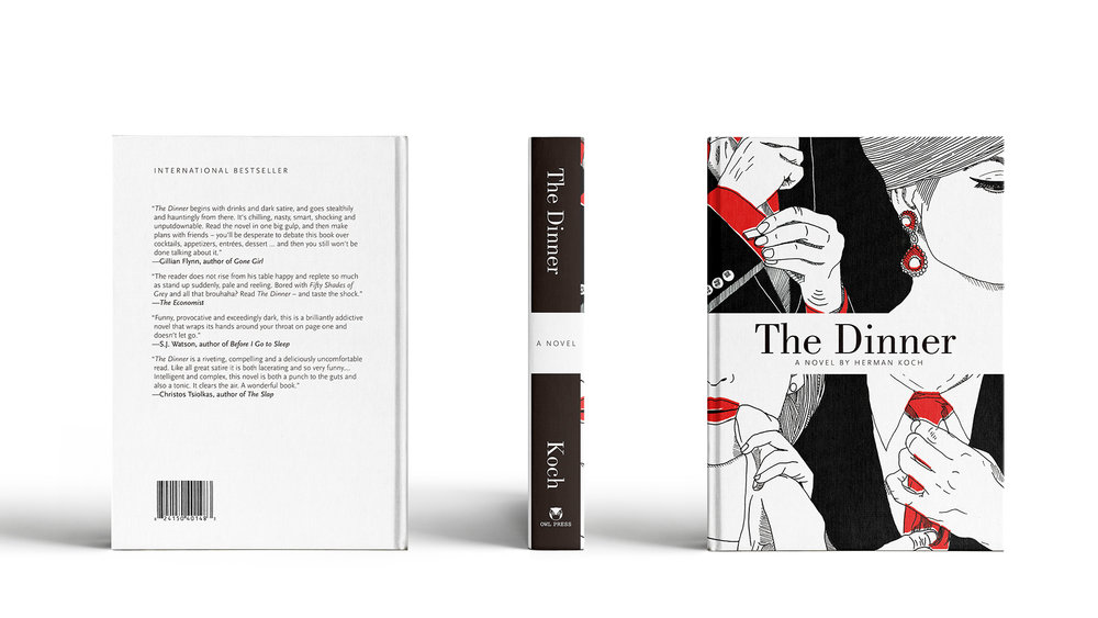 My book jacket design for the novel 'The Dinner' was a finalist in the student category of  The Redgees: Canadian Regional Design Awards  in February 2014.